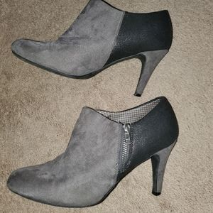 Grey ankle booties 8.5 Wide